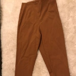Pants - Camel stretchy slim fit work pants